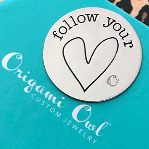 4 for $25 Origami Owl Lg Follow Your Heart Plate